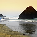 Beach Goers by Frank Wilson