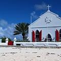Beach Grand Turk Church by Robert Smith