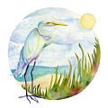 Beach Heron by Amy Kirkpatrick