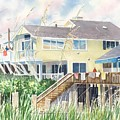 Beach House At Wrightsville Beach by Tom Harris