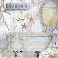 Beach House Bath by Mindy Sommers