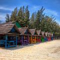 Beach Huts by Adrian Evans