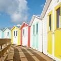 Beach Huts And Boardwalk by Helen Northcott