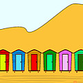 Beach Huts And Sand by Bigalbaloo Stock