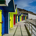 Beach Huts At Barry Island by Steve Purnell
