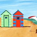 Beach Huts II by James Lavott