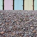 Beach Huts X by Helen Northcott