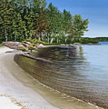 Beach In Muskoka by Kenneth M  Kirsch