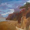 Beach In Santa Barbara by Irena  Jablonski