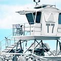 Beach Lifeguard Tower by Sharon Mau