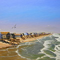 Beach Of The Outer Banks Of N.c. by Jerry Spangler
