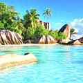 Beach On La Digue Seychelles by Dominic Piperata