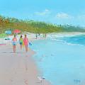 Beach Painting 'beach Strolling' By Jan Matson by Jan Matson
