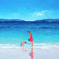 Beach Painting - Cooling Off by Jan Matson