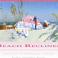 Beach Recliner Poster by Candace Lovely