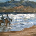 Beach Riders At Pismo by Lori Pittenger