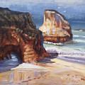 Beach Rocks by Elena Sokolova