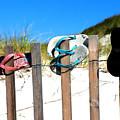 Beach Sandels  by Bruce Gannon