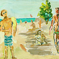 Beach Scence by Regina Gately
