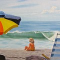 Beach Scene - Childhood by Lea Novak