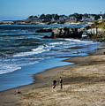 Beach Scene California  by Chuck Kuhn