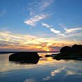 Beach Skyset On A Cornish Beach Cornwall by Sebastien Coell