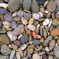 Beach Stones And Pebbles by Sophie De Roumanie