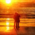 Beach Sunrise Love by Francesa Miller