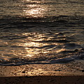 Sunrise Ocean Wave Reflection 1 by Richard Griffin