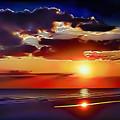 Beach Sunset 5184 by Walt Foegelle