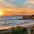 beach sunset Portugal by Mikehoward Photography