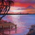Beach Sunset by Sherry Winkler