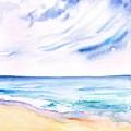 Beach by Sweeping Girl