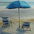 Beach Umbrella - Hilton Head by Robert Rohrich