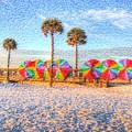 Beach Umbrella Lineup by Michael Garyet