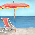 Beach Umbrella Of Stripes by Arline Wagner