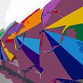 Beach Umbrella Row by David Lee Thompson