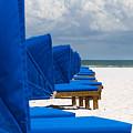 Beach Umbrellas 3 By Darrell Hutto by J Darrell Hutto