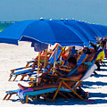 Beach Umbrellas By Darrell Hutto by J Darrell Hutto