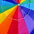 Beach Umbrella's Cell Phone Art by David Lee Thompson