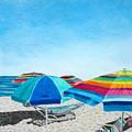 Beach Umbrellas by Glenda Zuckerman