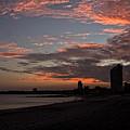 Beach Walk At Sunset by Bob Hislop