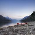 Beached Canoe Awaits Nightfall by Royce Howland