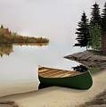 Beached Canoe In Muskoka by Kenneth M Kirsch