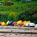 Beached Kayaks by Faith Harron Boudreau
