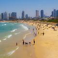 Beachfront In Tel Aviv  by Joshua Van Lare