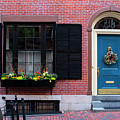 Beacon Hill Blue Door At Springtime by Toby McGuire
