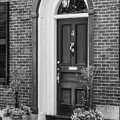 Beacon Hill Red Door Bw  by Susan Candelario