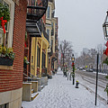 Beacon Street In Boston At Christmas by Toby McGuire