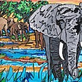 Beaded Elephant by Sigrid Tune